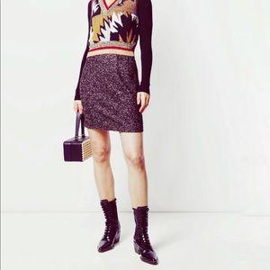 Missoni Metallic Crochet  Mini Skirt